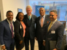 Premier Banks meets with former US President Bill Clinton